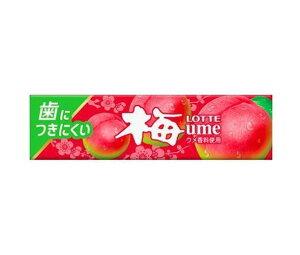 送料無料 ロッテ 歯につきにくい 梅ガム 9枚×15個入 北海道・沖縄・離島は別途送料が必要。