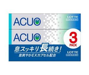 送料無料 【2ケースセット】ロッテ ACUO(アクオ) クリアブルーミント 3P×10個入×(2ケース) 北海道・沖縄・離島は別途送料が必要。