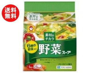 送料無料 東洋水産 マルちゃん 素材のチカラ 野菜スープ (6.0g×5食)×6袋入 ※北海道・沖縄・離島は別途送料が必要。