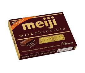 送料無料 明治 ミルクチョコレートBOX 120g(26枚)×6箱入 ※北海道・沖縄・離島は別途送料が必要。