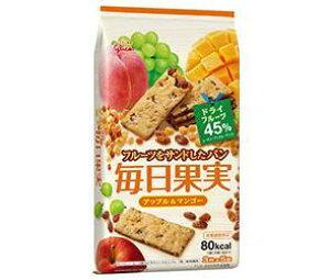 送料無料 【2ケースセット】グリコ 毎日果実 アップル&マンゴー 15枚(3枚×5袋)×5個入×(2ケース) ※北海道・沖縄・離島は別途送料が必要。