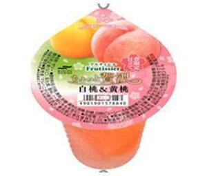 送料無料 マルハニチロ フルティシエ ちょっと贅沢 白桃&黄桃 205g×24(6×4)個入 北海道・沖縄・離島は別途送料が必要。