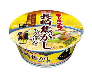 送料無料 明星食品 チャルメラどんぶり 焦がしちゃんぽん 80g×12個入 ※北海道・沖縄・離島は別途送料が必要。