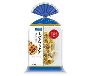 送料無料 丸中製菓 ミルクワッフル 4個×6袋入 ※北海道・沖縄・離島は別途送料が必要。