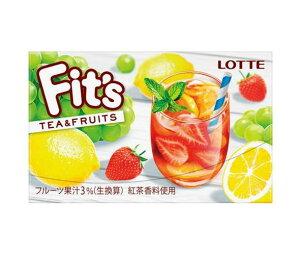 送料無料 ロッテ Fit's ティー&フルーツ 12枚×10個入 北海道・沖縄・離島は別途送料が必要。