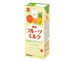 送料無料 毎日牛乳 毎日フルーツミルク 200ml紙パック×24本入 北海道・沖縄・離島は別途送料が必要。