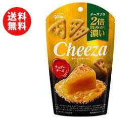 送料無料 グリコ 生チーズのチーザ チェダーチーズ 40g×10袋入 ※北海道・沖縄・離島は別途送料が必要。