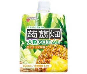 送料無料 マンナンライフ 大粒アロエin クラッシュタイプの蒟蒻畑 パイナップル味 150gパウチ×30本入 北海道・沖縄・離島は別途送料が必要。