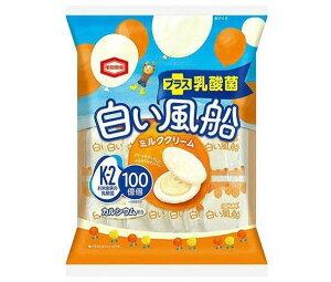 【送料無料・メーカー/問屋直送品・代引不可】亀田製菓 白い風船ミルククリーム 18枚×12袋入 ※北海道・沖縄・離島は配送不可。