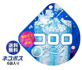 【全国送料無料】【ネコポス】UHA味覚糖 コロロ ソーダ 40g×6袋入