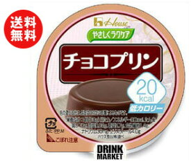【送料無料】【2ケースセット】ハウス食品 やさしくラクケア 20kcal チョコプリン 60g×48(12×4)個入×(2ケース) ※北海道・沖縄・離島は別途送料が必要。