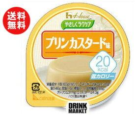 【送料無料】【2ケースセット】ハウス食品 やさしくラクケア 20kcal プリンカスタード味60g×48(12×4)個入×(2ケース) ※北海道・沖縄・離島は別途送料が必要。