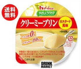 【送料無料】ハウス食品 やさしくラクケア クリーミープリン カスタード風味63g×48(12×4)個入 ※北海道・沖縄・離島は別途送料が必要。