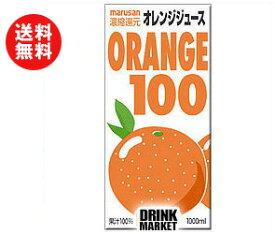 【送料無料】マルサンアイ(株) オレンジ1001000ml紙パック×12(6×2)本入 ※北海道・沖縄・離島は別途送料が必要。