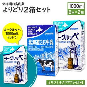 北海道日高乳業ヨーグルッペ/北海道3.6牛乳 1000mlよりどり2箱セット