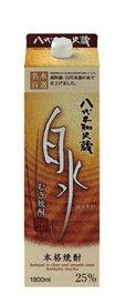 【送料無料】キリンビール 八代不知火蔵 むぎ焼酎 白水 25度 1.8L 1ケース6本