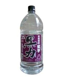 【送料無料】本格芋焼酎 紫芋 黒力 25°PET 25度 4L(4000ml) 1ケース4本 75373