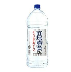 合同酒精株式会社 直球勝負 焼酎甲類 12度 4L(4000ml)1ケース4本