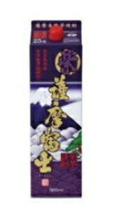 【送料無料】濱田酒造 紫薩摩富士 紫芋 芋焼酎 25度 1.8Lパック 1ケース(6本入)