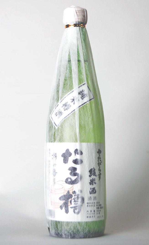 北岡本店・奈良地酒 やたがらす(八咫鳥) たる樽 純米樽酒 720ml瓶 1本
