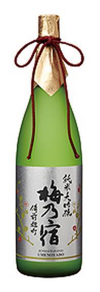 【梅乃宿・奈良地酒】梅乃宿 備前雄町 純米大吟醸 1.8L瓶 1本 02P03Dec16