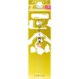 【送料無料】菊正宗酒造 菊正宗 しぼりたて純米酒 キンパック 日本酒 1.8L 1ケース(6本入)