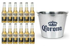 【アイスバケット(バケツ)1個付き】コロナビール エキストラ 355ml瓶 12本セット【送料無料】