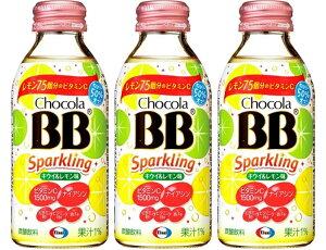 【送料別】エーザイ チョコラBBスパークリング キウイ&レモン味 140ml瓶×24本(1ケース)