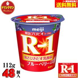 【クール便】 ☆ 明治 ヨーグルト R-1 ブルーベリー脂肪0 ■112g×48個■