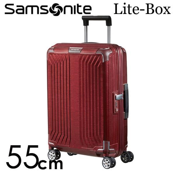 サムソナイト ライトボックス スピナー 55cm ディープレッド Samsonite Lite-Box Spinner 38L 79297【送料無料】※北海道・沖縄・離島を除く