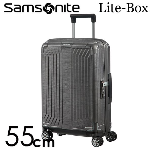 サムソナイト ライトボックス スピナー 55cm エクリプスグレー Samsonite Lite-Box Spinner 38L 79297【送料無料】※北海道・沖縄・離島を除く
