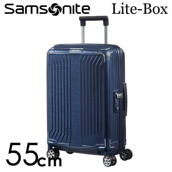 サムソナイト ライトボックス スピナー 55cm ディープブルー Samsonite Lite-Box Spinner 38L 79297【送料無料】※北海道・沖縄・離島を除く