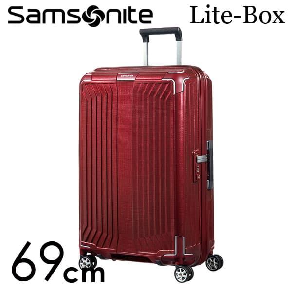 サムソナイト ライトボックス スピナー 69cm ディープレッド Samsonite Lite-Box Spinner 75L 79299【送料無料】※北海道・沖縄・離島を除く