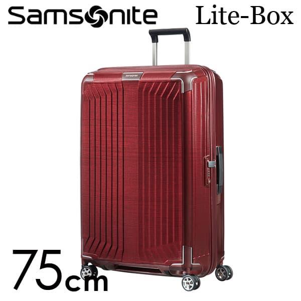 サムソナイト ライトボックス スピナー 75cm ディープレッド Samsonite Lite-Box Spinner 100L 79300【送料無料】※北海道・沖縄・離島を除く