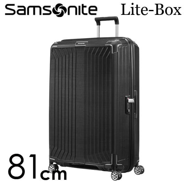 サムソナイト ライトボックス スピナー 81cm ブラック Samsonite Lite-Box Spinner 124L 79301【送料無料】※北海道・沖縄・離島を除く