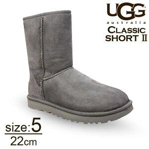 UGG アグ クラシックショート II ムートンブーツ ウィメンズ グレー 5(22cm) 1016223 Classic Short【送料無料】