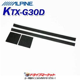 【秋のドドーン!と全品超特価祭】KTX-G30D 音質向上キット スピーカー防音シート スピーカー背面吸音材 ALPINE(アルパイン)
