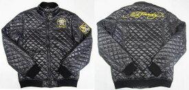 【SALE】AC74)ED HARDYキルトデザイン中綿ジャケット(EHJM7045) 黒★US購入B系HIPHOPセレブリティ【送料無料】