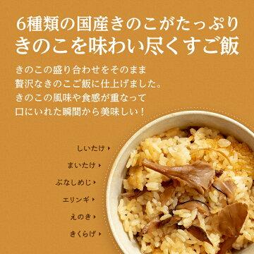 お試しセット【1合用】森のきのこご飯の素送料無料 炊き込みご飯釜飯(メール便配送)