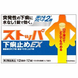 【第2類医薬品】《ライオン》 ストッパ 下痢止めEX 12回分(12錠)