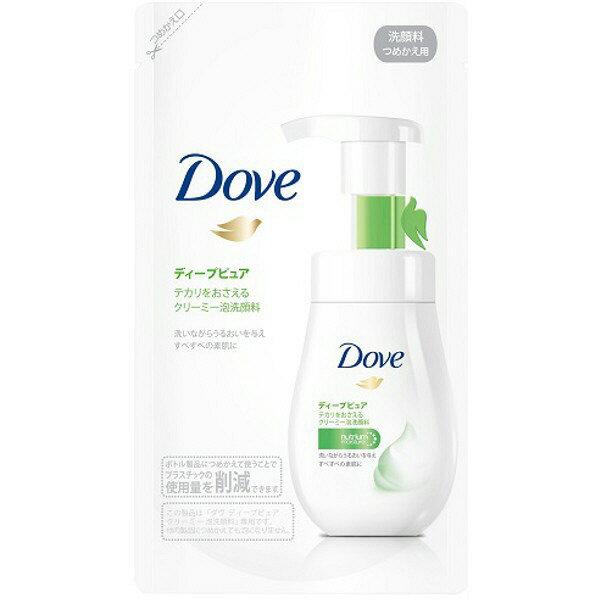 《ユニリーバ》 Dove ダヴ ディープピュア クリーミー泡洗顔料 つめかえ用 (140mL)