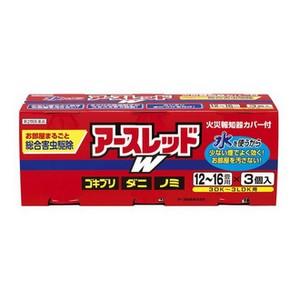 【第2類医薬品】《アース製薬》 アースレッドW 12〜16畳用 20g×3個パック (総合害虫駆除)