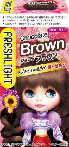フレッシュライト ミルキーヘアカラー ショコラブラウン 1個