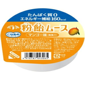 株式会社H+Bライフサイエンスこなあめシリーズ 粉飴ムース マンゴー味(無果汁)58g×1個<たんぱく質0,エネルギー補給160kcal>【JAPITALFOODS】(発送までに6-10日かかります)(ご注文後のキャンセ