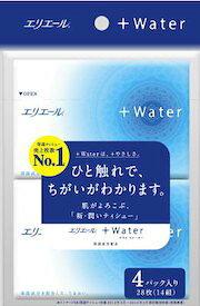 大王製紙株式会社エリエール プラスウォーター(+Water) ティシュー ポケット(4コパック)<肌の毎日の幸せに、新・潤いティシューを>【北海道・沖縄は別途送料必要】