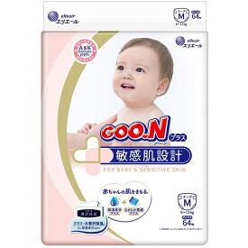 大王製紙株式会社 グーンプラス(GOO.N)  敏感肌設計 テープ Mサイズ 64枚入×4個セット(計256枚)(この商品は注文後のキャンセルができません)ドラッグピュア楽天市場店】