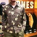 """ロングスリーブ ハワイアンシャツ 「片目髑髏」/ L/S Hawaiian Shirt """"片目髑髏"""" / 【ドライボーンズ】メンズ シャ…"""