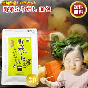 \送料無料/ 野菜ふりだし6g×30包 野菜だし パック だしの素 だしパック 顆粒 粉末 スープの素 野菜スープ コンソメ ブイヨン 国産 たまねぎ にんにく しょうが 宮崎県産 椎茸 ポイント消化