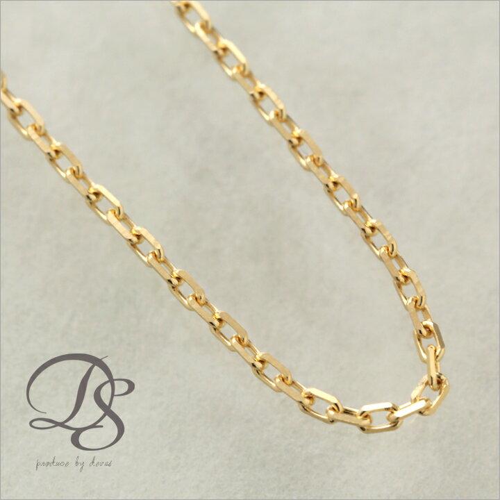 K18 ゴールド ネックレス 18金 ネックレス メンズ 【あずきチェーン 幅1.3mm】