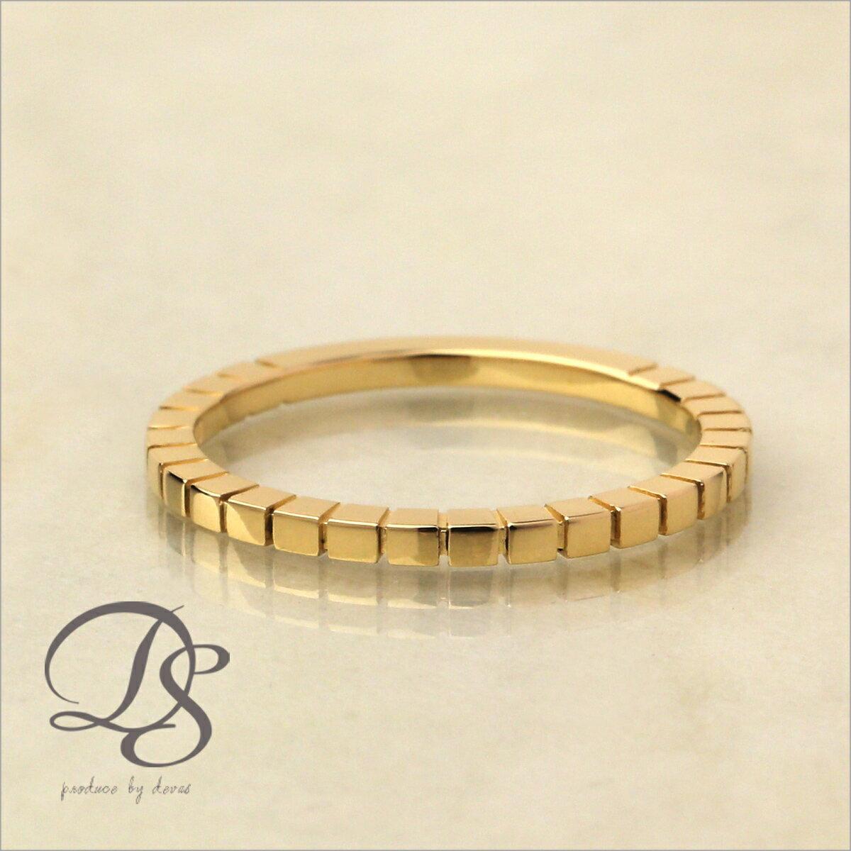 【K18ゴールド リング】18k 18金 指輪DEVAS ディーヴァス ピンキーリング シンプル ゴールドリング レディース かわいい 華奢 ジュエリー 重ねづけ 大人可愛い お誕生日 クリスマスプレゼント 彼女 5号 6号 7号 8号 9号 四角 スクエア